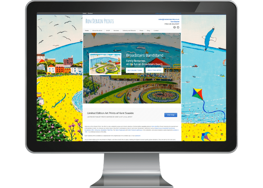 Ecommerce website for artist in Broadstairs, Kent_fpmortimore web design