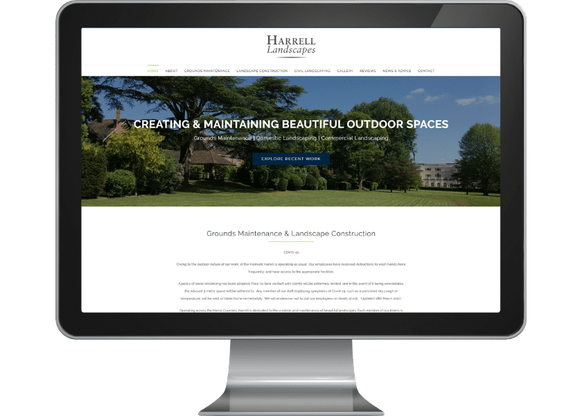 Harrell Landscapes Website Design Welwyn Garden City