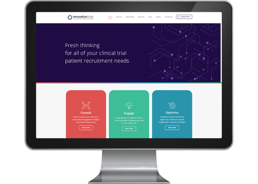 Website for Innovative Trials Letchworth