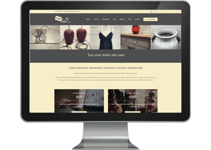 Trade My Clutter Website Design Tewin