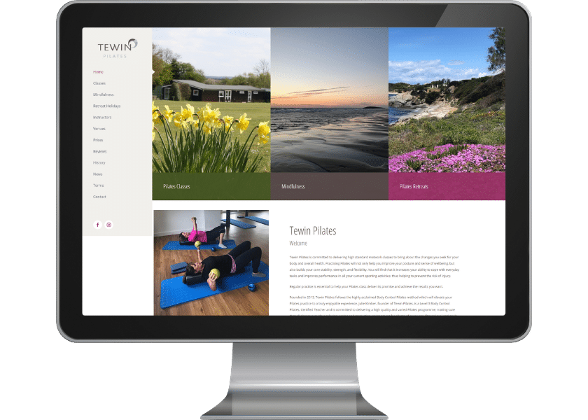Web design Tewin Pilates