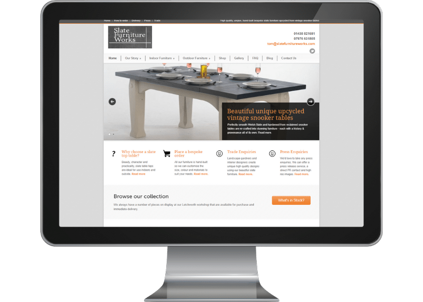Web design for manufacturer and supplier in Letchworth