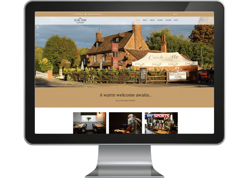Web design for pub in Welwyn Garden City