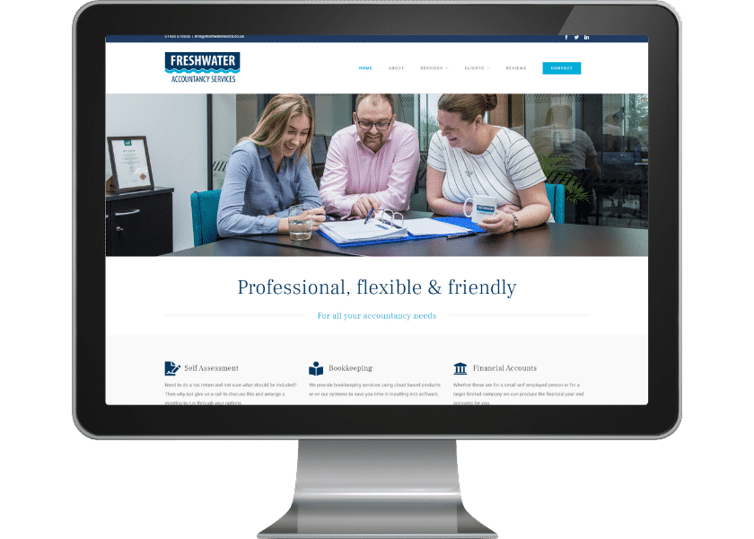 Website design for accountant Stevenage