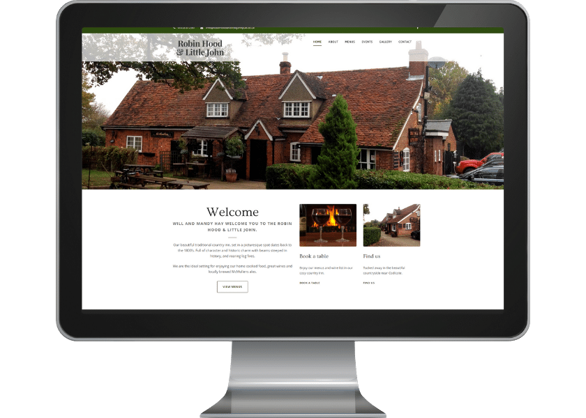 Website design for pub in Hertfordshire_fpmortimore web design