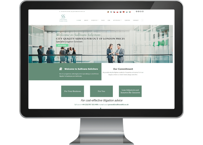 Website design for solicitors in Welwyn Garden City