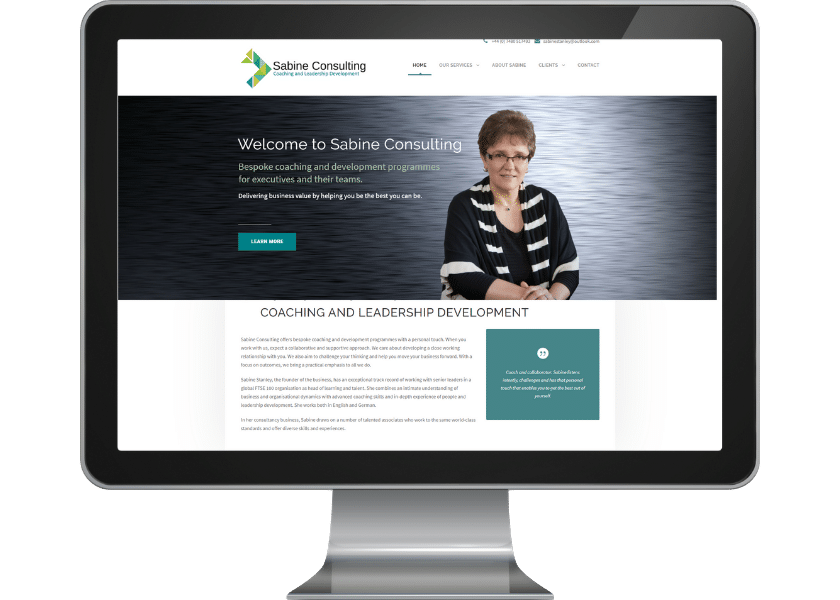Website for Consultant Hertfordshire_fpmortimore web design
