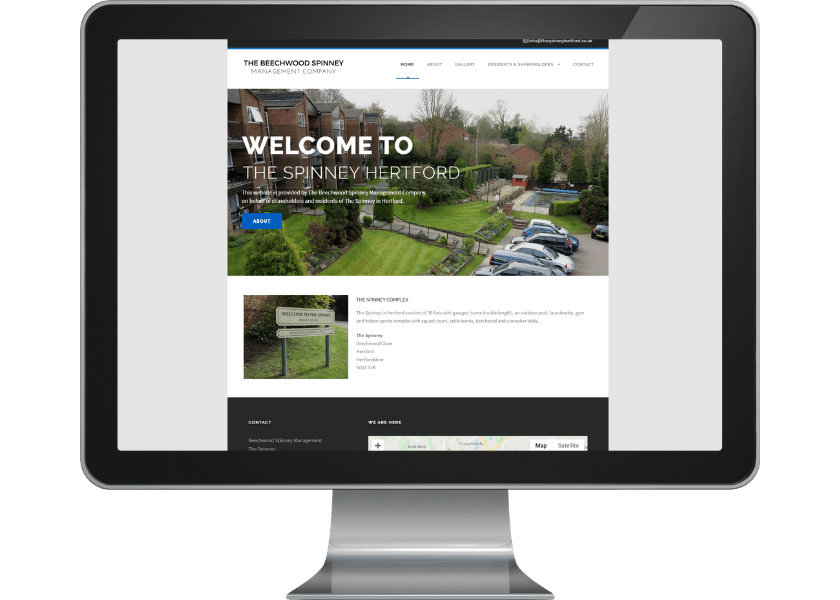 Website for Residents Association Hertford