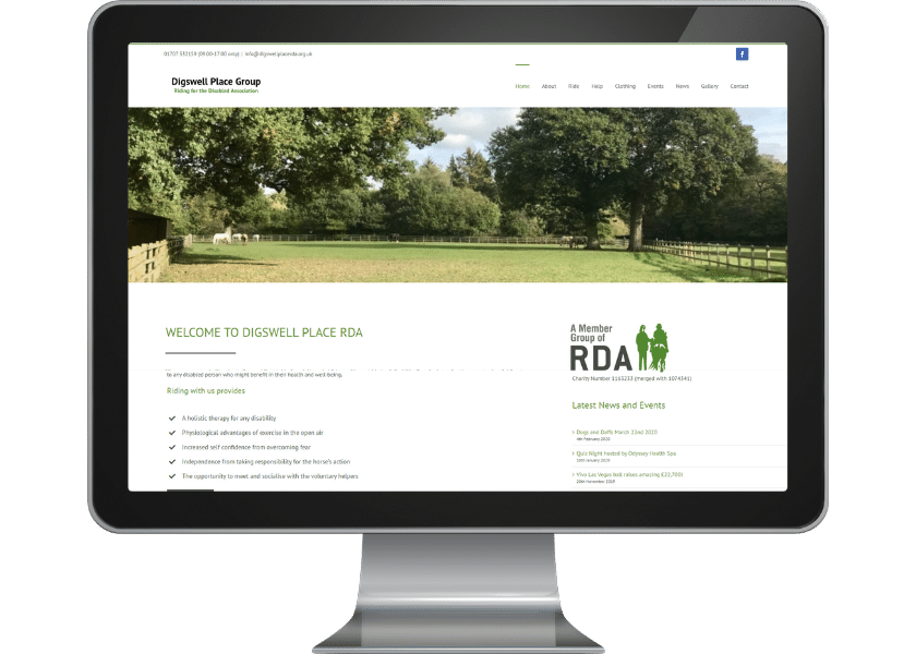 Website for charity in Welwyn Garden City