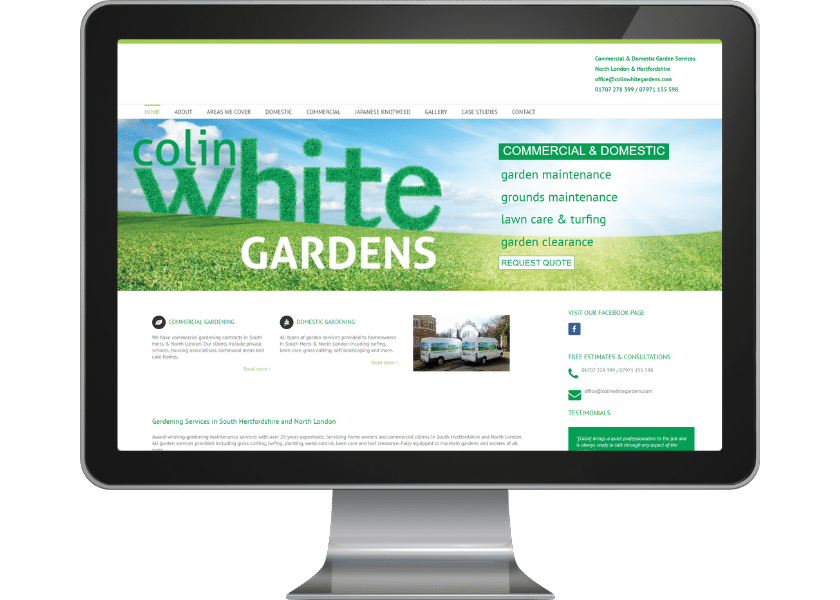 Website for gardener in Potters Bar