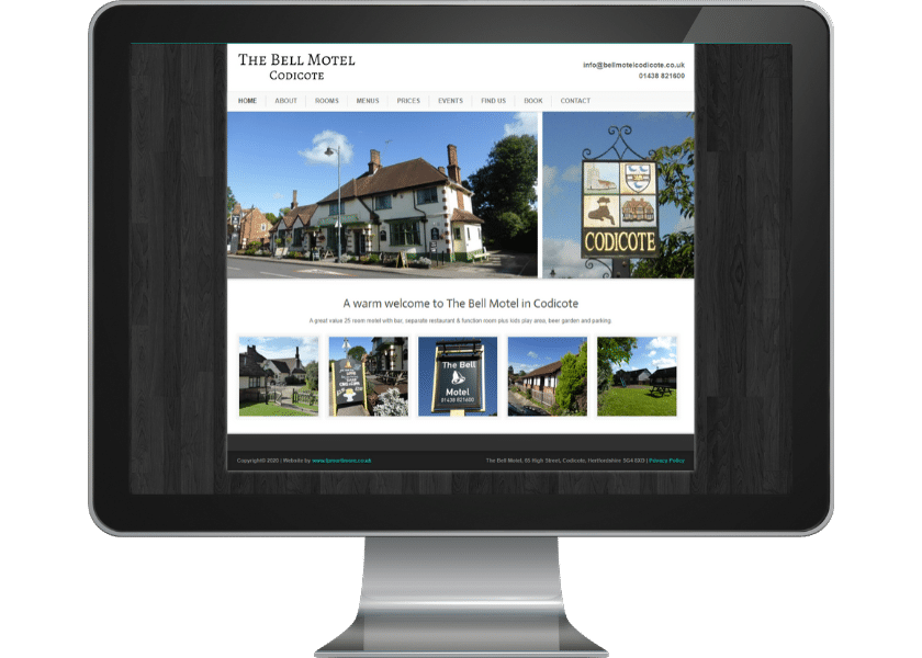 Website for hotel in Codicote