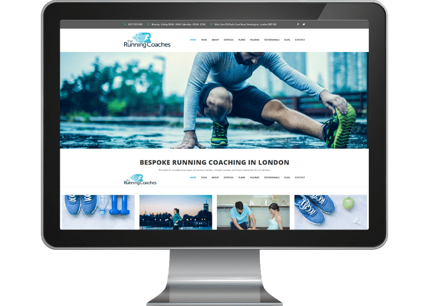 Website for personal trainer in London FP Mortimore Web Design