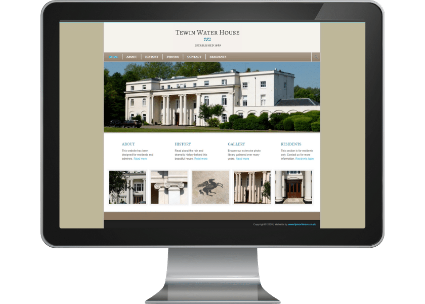 Website for residents of Tewin Water House
