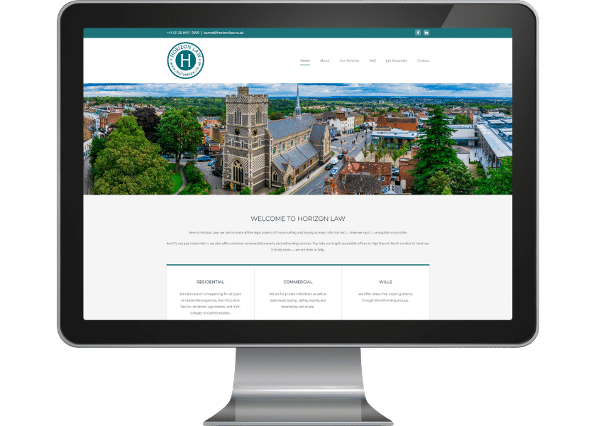 Website for solicitors in Barnet