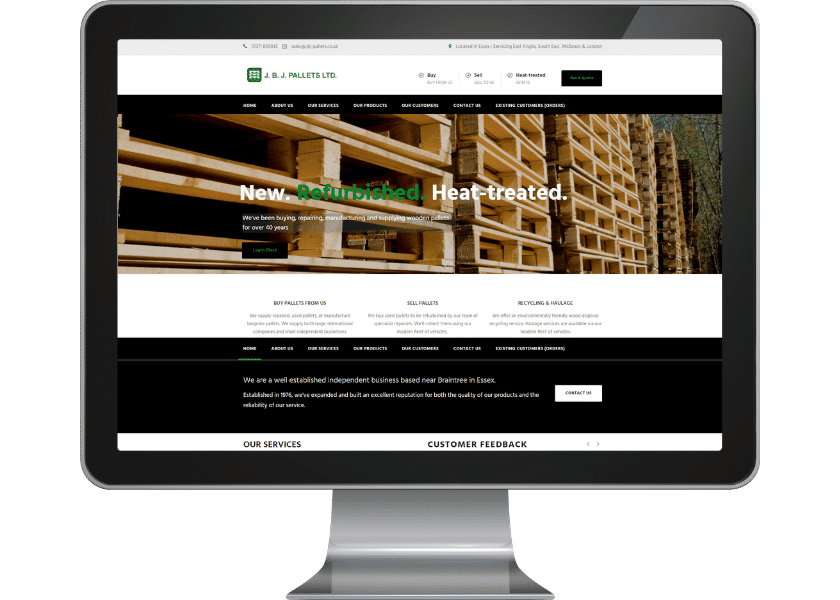 Website for supplier in Essex