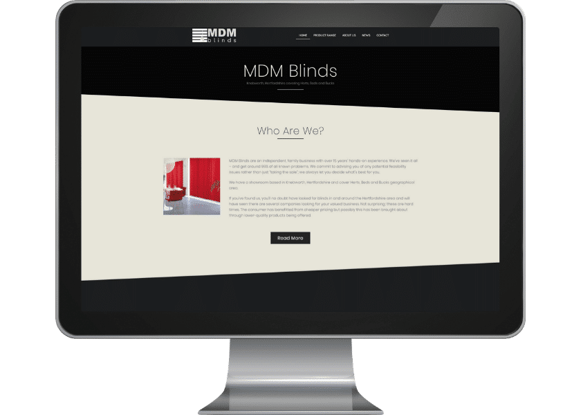 Webste for MDM Blinds