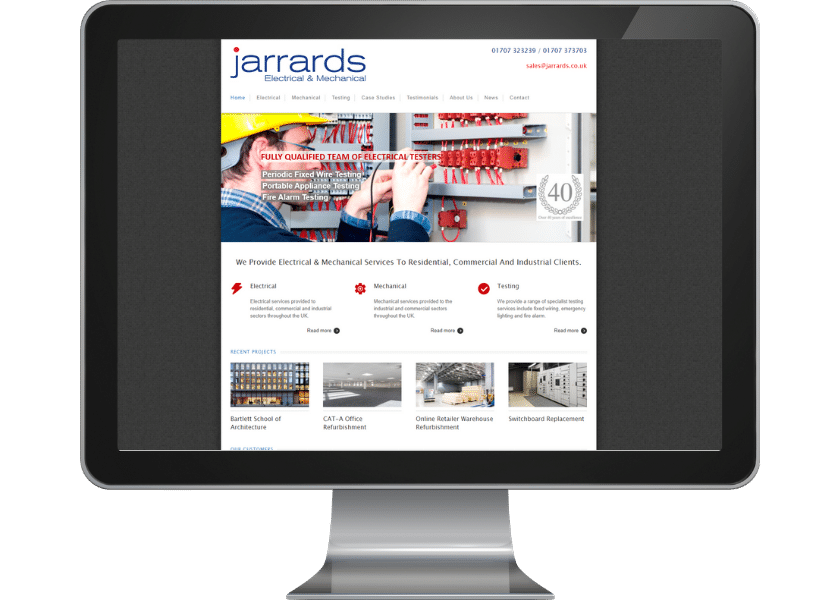 Wordpress upgrade for electrical contractor in welwyn garden city