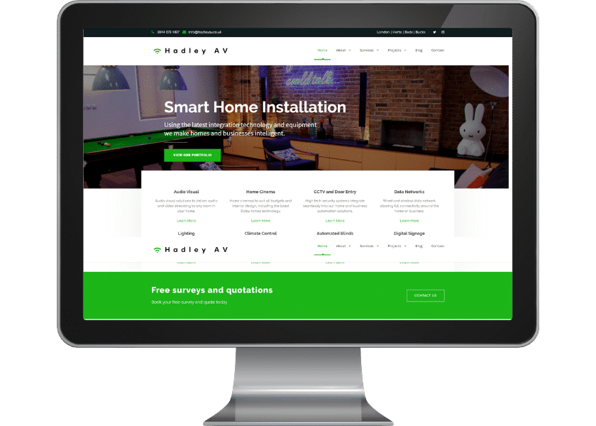 Wordpress upgrade for smart home specialist in Borehamwood