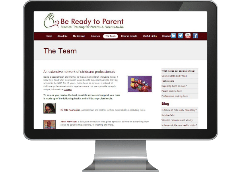 Wordpress website for childcare training business