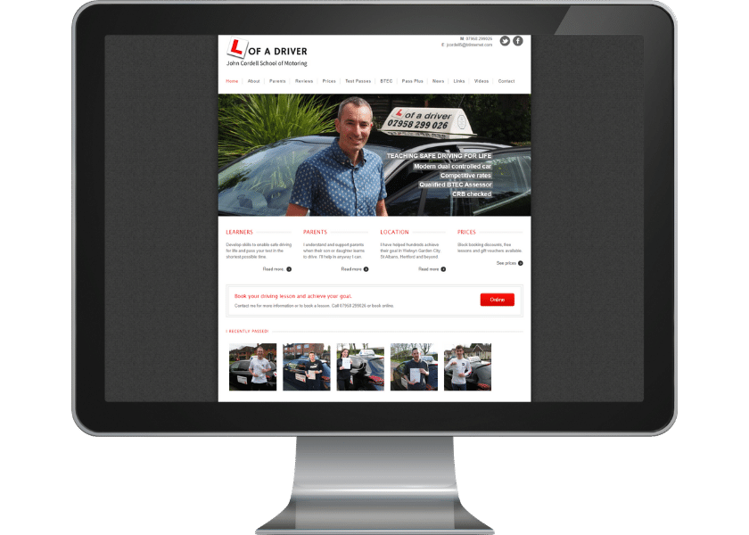 Wordpress website for driving instructor in Welwyn Garden City